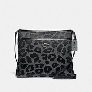 File Crossbody With Leopard Print
